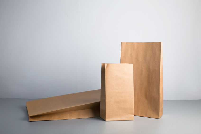 simple recyclable kraft paper bag